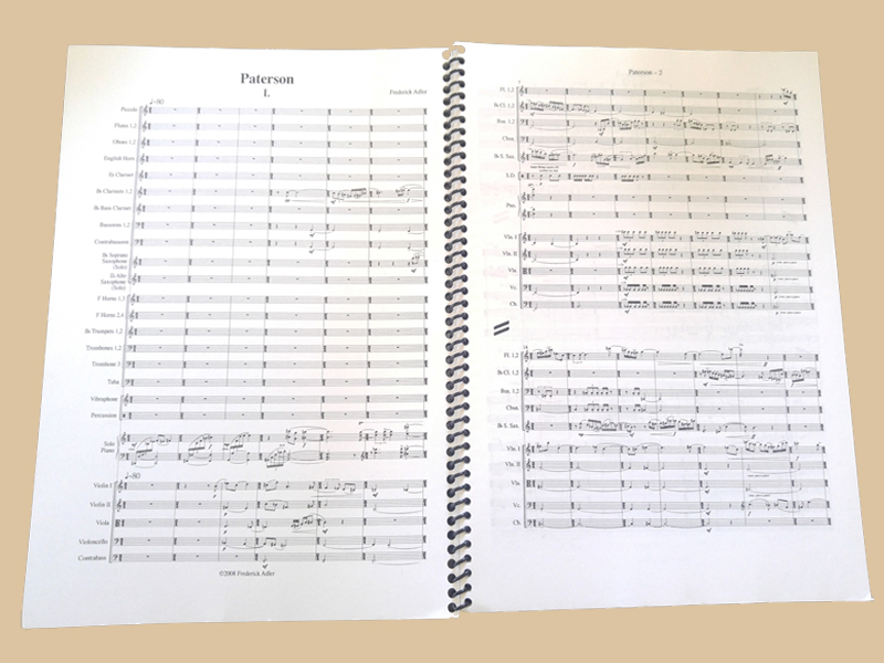 buy the Paterson Orchestral Work scores